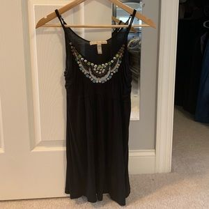 Blank tank top with beading